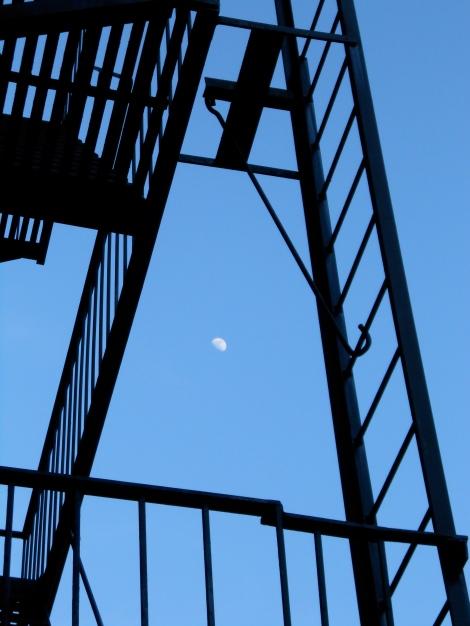 fire escape moon