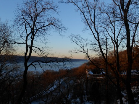 winter hudson river